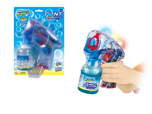 LIGHT UP BUBBLE GUN - CAN BLOW BIG BUBBLES - BB504